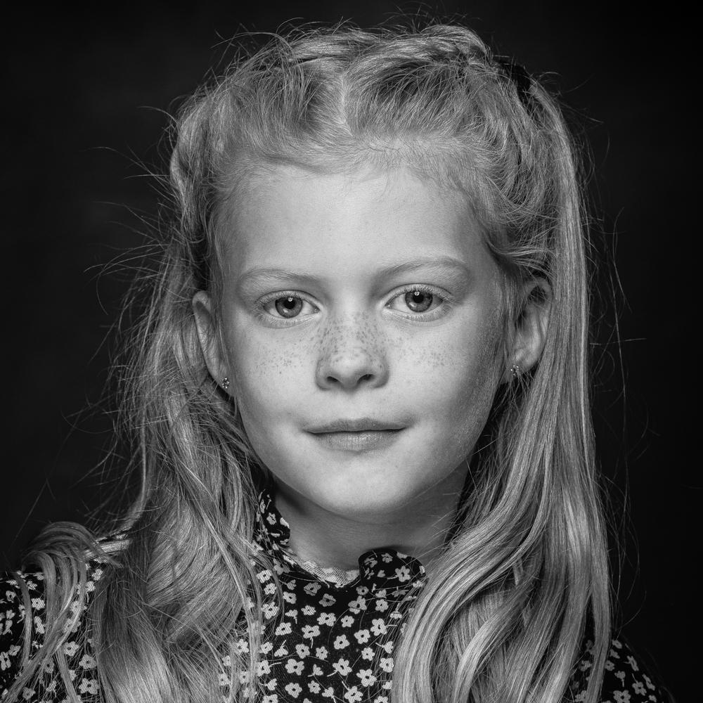 Portretfoto zwart-wit